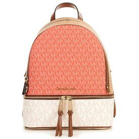 マイケルコース バックパック 30S0GEZB2V Michael Michael KorsRhea Medium Color-Block Logo Backpack (Pink Grapefruit Multi) RHEA ZIP ミディアム バックパック - MKロゴ (ピンクグレープフルーツマルチ) 新作 正規品 アメリカ買付 レディース バッグ リュックサック