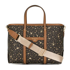 マイケルコース 2WAYバッグ Michael Michael Kors 30H0GKNT2Y Beck Medium Star-Embellished Logo Tote Bag (Brown/Gold) ベック ミディアム スター ロゴ トート (ブラウン/ゴールド)