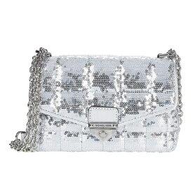 マイケルコース ショルダーバッグ 30H0S1SL1U Michael Michael Kors Soho Small Metallic Sequined Quilted Shoulder Bag (Silver) SOHO チェーンショルダー スモール - シークイン (シルバー) Soho Small Sequin Chain Shoulder