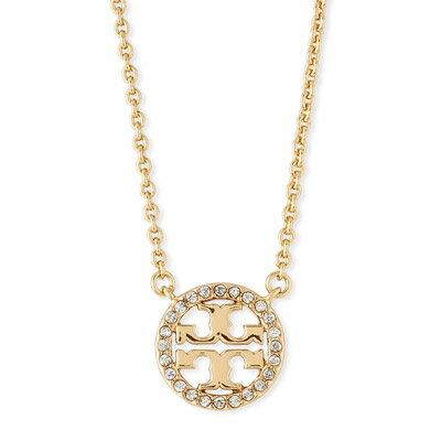 トリーバーチ ネックレス Tory Burch Delicate Crystal Logo Pendant Necklace (Gold) クリスタル ロゴ ペンダント ネックレス (ゴールド) 新作 正規品 レディース ジュエリー ギフトプレゼント 誕生日 クリスマス