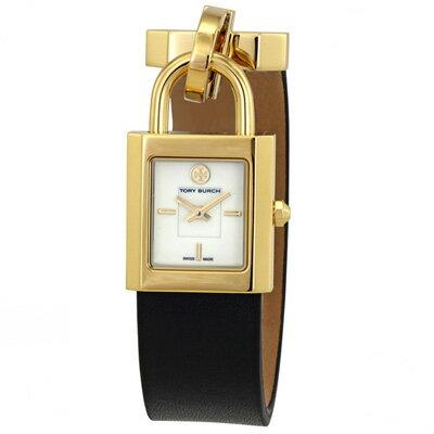 トリーバーチ 腕時計 Tory Burch TBW7003Surrey Black Leather Strap Watch 22x24mm (Black) レザー ブレスレット ウォッチ 時計 (ブラック) 新作 正規品 アメリカ買付 レディース ジュエリー ギフト プレゼント 腕時計