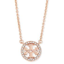 トリーバーチ ネックレス Tory Burch Delicate Crystal Logo Pendant Necklace (Rose Gold) クリスタル ロゴ ペンダント ネックレス (ローズゴールド) 新作 正規品 レディース ジュエリー ギフトプレゼント 誕生日 クリスマス