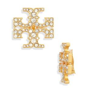 トリーバーチ イヤリング Tory Burch Kira Pave Clip-On Stud Earrings (Yellow Gold Tone/Glass) キラ パヴェ クリップオン スタッド イヤリング (ゴールド) Kira Pave Clip-On Earrings