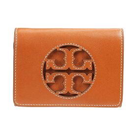 トリーバーチ 二つ折り財布 Tory Burch 58130★ MILLER MEDIUM FLAP WALLET (Aged Camello) ミラー ミディアム フラップ ウォレット 財布 (ブラウン系) Medium Milller Tri-Fold Leather Wallet