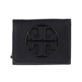 トリーバーチ 二つ折り財布 56801 Tory Burch Miller Trifold Micro Wallet (Black) ミラー トライフォールド マイクロ ウォレット (ブラック)