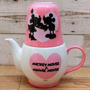 ディズニー わけあり アウトレット ミッキーマウス ミニーマウス ティーフォーツー ミッキー ミニー ティーポット 茶器 陶器 急須 マグカップ お土産 おみやげ 訳あり マグ お茶 茶こし付き