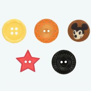 東京ディズニーリゾート ディズニー ハンディー クラフト ボタン 5個 セット ミッキーマウス 無料ギフトラッピング TDR ディズニーランド ディズニーシー ハンディークラフト おみやげ お土