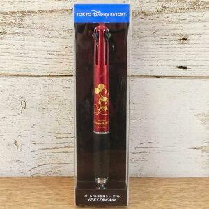 【赤】 東京ディズニーリゾート ディズニー ミッキーマウス ジェットストリーム ボールペン 0.5mm 多機能ペン 黒 赤 青 緑 4色+シャープペン TDR ディズニーランド ディズニーシー ミッキー