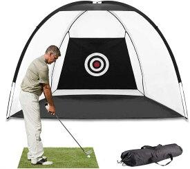 ゴルフネット ゴルフ練習ネット ゴルフ打撃ネット バック長さ3/2.4×1.8×2.0m 組立式ゴルフネット 据置タイプ 収納バッグ付き ゴルフ 練習網 アプローチ練習用 ゴルフ 練習器具 屋内 室外 自宅 防球ネット的 コンパクト