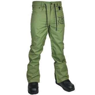 TECH NINE(TEC九)SLIMISH STRETCH DENIM PANT SHELL單板滑雪褲子人ARMY GREEN