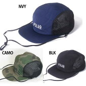 POLER(ポーラー)FURRYFONT2WAYDRAWCORDMESHCAPキャップ帽子メンズアウトドアキャンプ