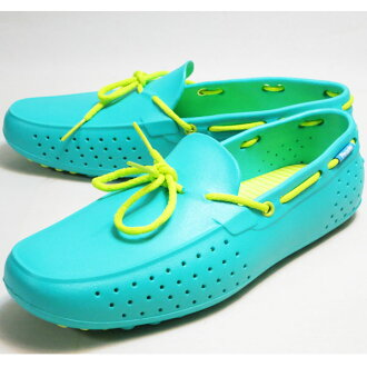 PEOPLE FOOTWEAR 피플 풋 웨어 THE SENNA (POOLSIDE GREEN w/ LEMONGRASS GREEN) 구두 컴퍼트 슈즈 데크 슈즈 맨즈