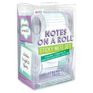 ギフトとしても喜ばれるアメリカ発OOLYより 全面粘着式付箋紙 3ロールセット
