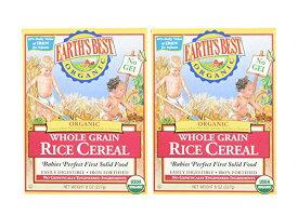 アースベスト オーガニック離乳食 ライスシリアル 2箱セット (EARTH'S BEST Whole Grain Rice Cereal)