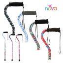 アメリカ生まれ NOVA デザイナーステッキ オフセット型杖 (シルバー・高齢者用)