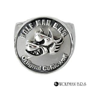 リング 指輪 狼 ウルフマンBRS シルバー925 アクセサリー メンズ ウォーウルフ 狼 ウルフ コイン お金 マネー コインリング 19号 21号 23号 ウォーウルフコインリング