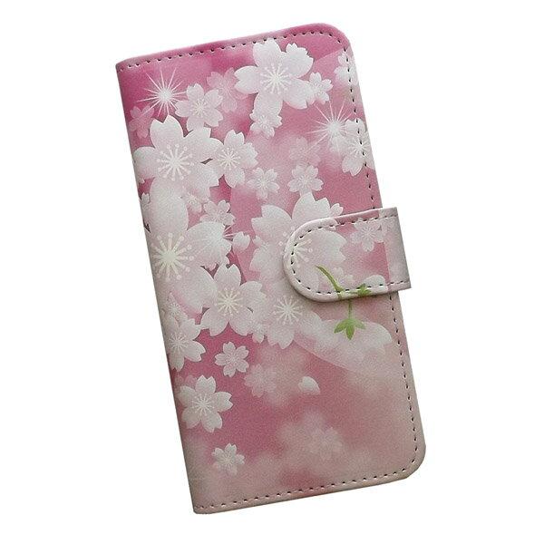 スマートフォンケース 手帳型 全機種対応 プリントケース 桜 ピンク 花柄 和柄 花