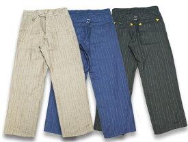 全3色【CALIFORNIA LINE/カリフォルニアライン】2019SS「Stripe Linen Trousers/ストライプリネントラウザース」【送料・代引き手数料無料】【あす楽対応】(SKULL FLIGHT/スカルフライト/アメカジ/ハーレー/ホットロッド)