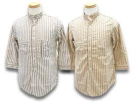"""全2色【FREE WHEELERS/フリーホイーラーズ】2020SF「Three Quarter Sleeve 1920s Style Work Shirts""""THE SKIPPER""""/スリークォータースリーブ1920sスタイルワークシャツ""""ザ スキッパー""""」(2023011)【あす楽対応】(アメカジ/アウトドア/ハーレー/ホットロッド)"""