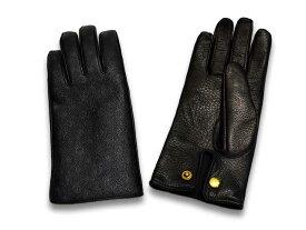 """【GLAD HAND/グラッドハンド】2017AW「Leather Glove""""Family Crest""""/レザーグローブ""""ファミリークレスト""""」【送料・代引き手数料無料】【あす楽対応】(GANGSTERVILLE/ギャングスタービル/WEIRDO/ウィアード/アメカジ/ハーレー/プレゼント)"""