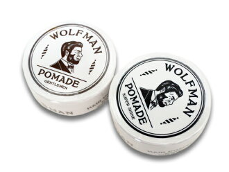 """All two kinds of """"WOLFMAN POMADE/ wolfman pomade"""" (GANGSTERVILLE/ gang star Building /WEIRDO/ we ard /OLD CROW/ old glow / American casual / Harley / barber)"""