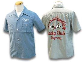 全2色【OLD CROW/オールドクロウ】2021SS「Racing Club S/S Shirts/レーシングクラブショートスリーブシャツ」(OC-21-SS-10)【あす楽対応】(WEIRDO/ウィアード/GLAD HAND/グラッドハンド/GANGSTERVILLE/ギャングスタービル/WOLF PACK/ウルフパック)