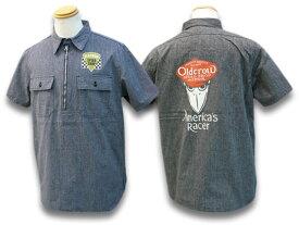 全2色【OLD CROW/オールドクロウ】2021SS「America's Racer S/S Pullover Shirts/アメリカズレーサーショートスリーブプルオーバーシャツ」(OC-21-SS-12)【あす楽対応】(WEIRDO/ウィアード/GLAD HAND/グラッドハンド/GANGSTERVILLE/ギャングスタービル/WOLF PACK)