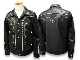 """【FINE CREEK&CO/ファインクリークアンドコー】2019SS「Western Jacket""""Karen Embroider""""/ウエスタンジャケット""""カレンエンブロイダー""""」【送料・代引き手数料無料】【あす楽対応】(FINE CREEK LEATHERS/ファインクリークレザー/ハイラージレザー/アメカジ)"""