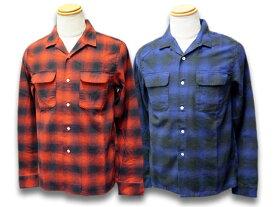 """全2色【CWORKS/シーワークス】2020SS「Ombre Check Shirts""""Bunker Hill""""/オンブレチェックシャツ""""バンカーヒル""""」(FCST002)【送料・代引き手数料無料】【あす楽対応】(FINE CREEK LEATHERS/ファインクリークレザーズ/MOSSIR/モシール/アメカジ/ハーレー)"""