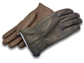 """全2色【POWWOW/パウワウ】「The Gauntlet Glove""""Type Street""""/ザ・ガントレットグローブ""""タイプストリート""""」【あす楽対応】(冬用ウインターグローブ/レザーグローブ/ハーレー/チョッパー/ボバー/バイク乗り/バイカー/プレゼント/手袋/WOLF PACK/ウルフパック)"""