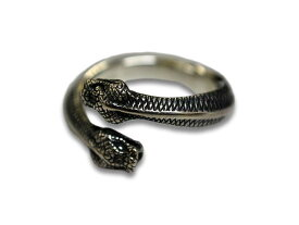 "【MAD CULT/マッドカルト】「Silver925 Ring""Double Head Snake""/シルバー925リング」(R-27)【送料・代引き手数料無料】【楽ギフ_包装】"