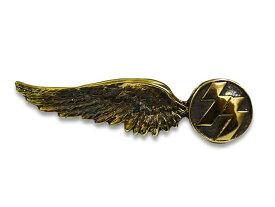 【SKULL FLIGHT/スカルフライト】Brass SS Wing Pins/真鍮製SSウイングピンズ【DM便対応】【あす楽対応】(CALIFORNIA LINE/カリフォルニアライン)