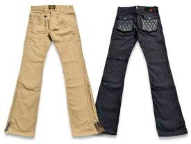 """全2色【SKULL FLIGHT/スカルフライト】「SS Pants Type2 Boots Cut""""Stretch Leather Pocket""""/SSパンツタイプ2ブーツカット""""ストレッチレザーポケット""""」【送料・代引き手数料無料】【あす楽対応】(CALIFORNIA LINE/カリフォルニアライン/ハーレー)"""