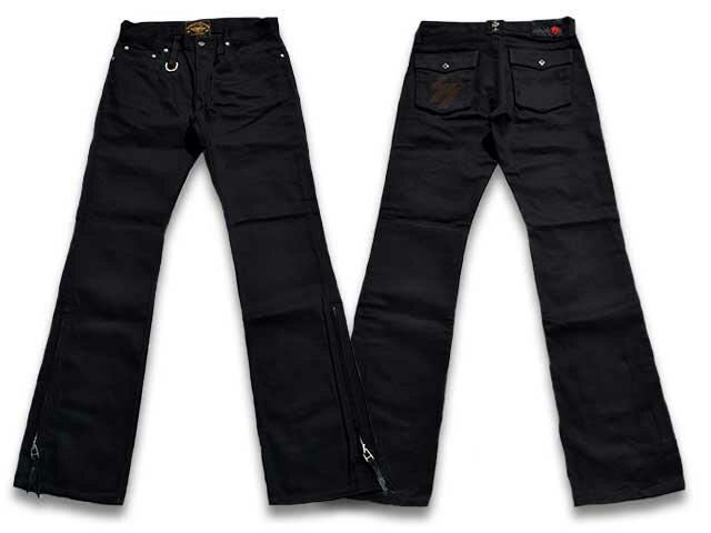 """【SKULL FLIGHT/スカルフライト】「SS Pants Type2 Boots Cut""""Hard Pique""""/SSパンツタイプ2ブーツカット""""ハードピケ""""」【送料・代引き手数料無料】【あす楽対応】(CALIFORNIA LINE/カリフォルニアライン/ハーレー/バイク)"""