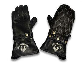 """全3色【CALIFORNIA LINE/カリフォルニアライン】""""Freeze Winter Gauntlet Glove/フリーズウインターガントレットグローブ""""【送料・代引き手数料無料】【あす楽対応】(SKULL FLIGHT/スカルフライト/ハーレーダビッドソン/バイク/手袋)"""