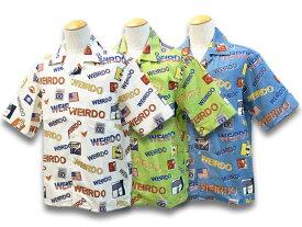 全3色【WEIRDO/ウィアード】2021SS「Porn WEIRDO S/S Coaches Shirts/ポーンウィアードショートスリーブコーチーズシャツ」(WRD-21-SS-05)【あす楽対応】(GANGSTERVILLE/ギャングスタービル/GLAD HAND/グラッドハンド/WOLF PACK/ウルフパック/アメカジ)