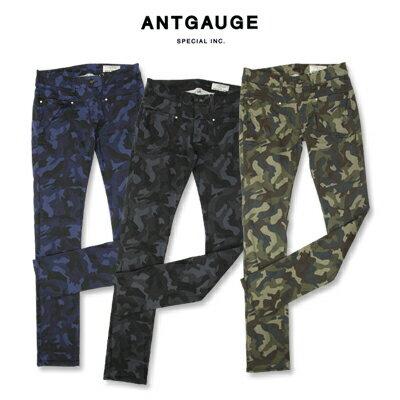 antgauge(アントゲージ)サテンストレッチカモフラージュスキニーパンツ C1094