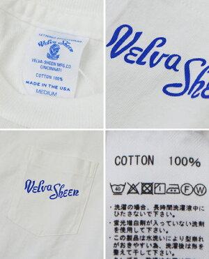 ベルバシーンVelvaSheenクルーネックロゴプリントポケットTシャツC/NVSLOGOTEEW/PK161907