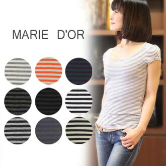 MARIE D'OR (Mary Dole) round neckline neck horizontal stripe cut-and-sew 2891