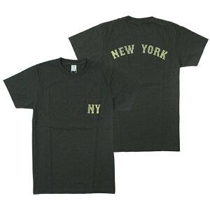 ベルバシーンVelvaSheenNYモチーフニューヨーク半袖クルーネックポケットTシャツNYS/SC/NTEEW/PK161980