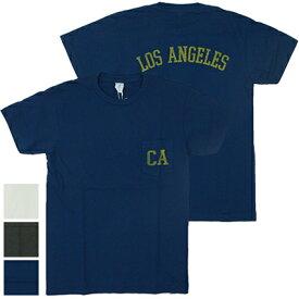 【メール便全国送料無料】ベルバシーン Velva Sheen CAモチーフ ロサンゼルス半袖クルーネックポケットTシャツ LA S/S C/N TEE W/PK 161981