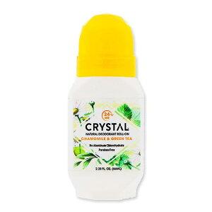 ミネラルロールオン カモミール&グリーンティー 66ml(2.25oz) クリスタルエッセンス(Crystal Essence)体臭 フレグランス ニオイケア 女性 美