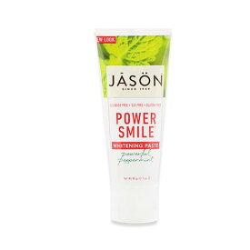 [NEW] Jason Natural パワースマイル ホワイトニング 歯磨き粉 パワフルペパーミント 85g(3oz)ジェイソンナチュラル【ポイント3倍★27日13:59迄】
