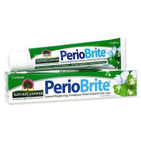 PerioBrite ナチュラルブライトニング歯磨き粉 クールミント 113.4g(4oz)Nature's Answer(ネイチャーズアンサー) 送料無料【ポイント3倍★27日13:59迄】