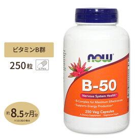 ビタミンB-50 カプセル 250粒 NOW Foods(ナウフーズ)