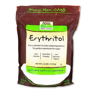 エリスリトール 2.5lb NOW Foods (ナウフーズ)とうもろこし 天然甘味料 カロリー0 糖質ダイエット 送料無料【ポイント3倍★27日13:59迄】