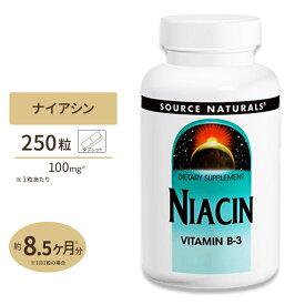 ナイアシン ビタミンB-3 250粒 SOURCE NATURALS (ソースナチュラルズ)