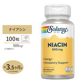 ナイアシン(ビタミンB3) 500mg 100粒 SOLARAY(ソラレー)