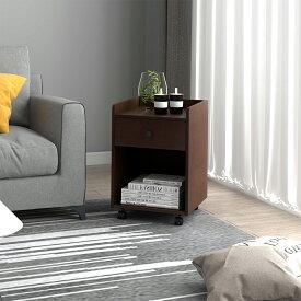 サイドチェスト キャスター付 サイドテーブル ナイトテーブル デスク ワゴン 収納 電話台 ベッドサイドテーブル 木製 オフィス収納 オフィスデスク 机 棚 送料無料 DEVAISE