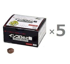 【5箱セット】インコロのど飴 30粒 ×5 ハーブ味 ノンシュガー 日本製 キシリトール